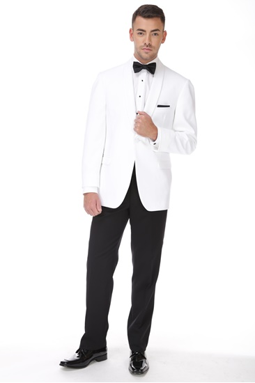 White Ike Behar Dinner Jacket