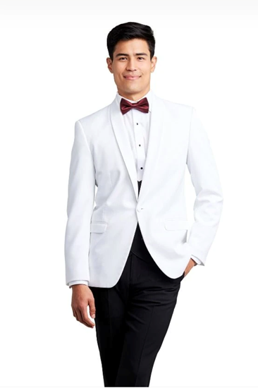 Picture of White Shawl Dinner Jacket